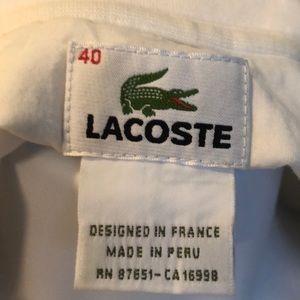 Lacoste Tops - Lacoste long sleeve polo